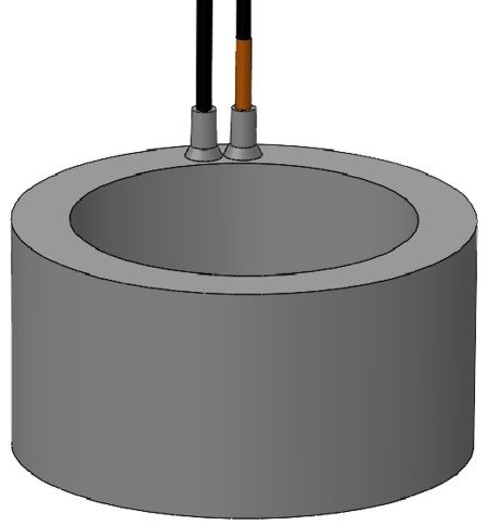 low frequency free flooded ring transducer (SX116) that resonates at 10 kHz