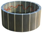 Piezoelectric ceramic (PZT) Striped Tube