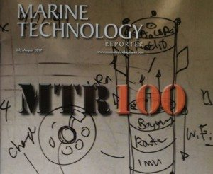 Marine Technology Reporter magazine's 2017 MTR100 issue